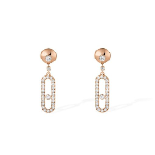 MESSIKA Move Uno Stud EARRINGS - ROSE GOLD