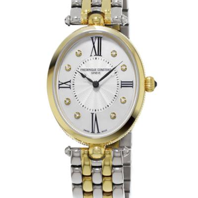 FREDERIQUE CONSTANT Classics Art Deco Quartz Diamond White Dial Ladies Watch