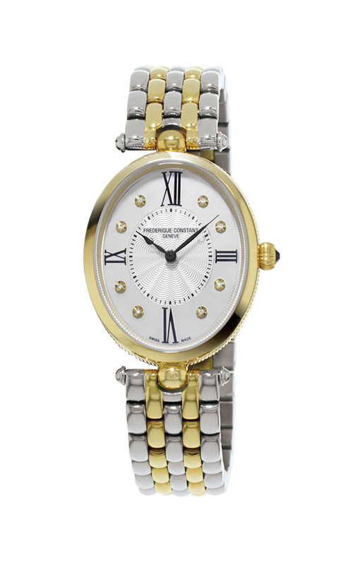 FREDERIQUE CONSTANT Classics Art Deco Quartz Diamond White Dial Ladies Watch