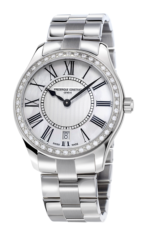 FREDERIQUE CONSTANT Slimline Moonphase Mother of Pearl Diamond Dial Ladies Watch