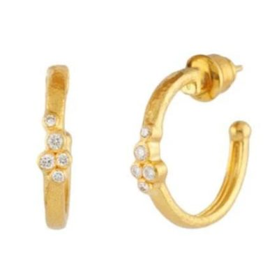 GURHAN Pointelle Hoop Earring with Diamonds