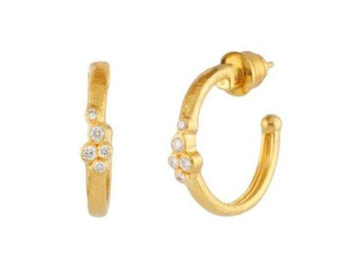 GURHAN Pointelle Hoop Earring with Diamonds