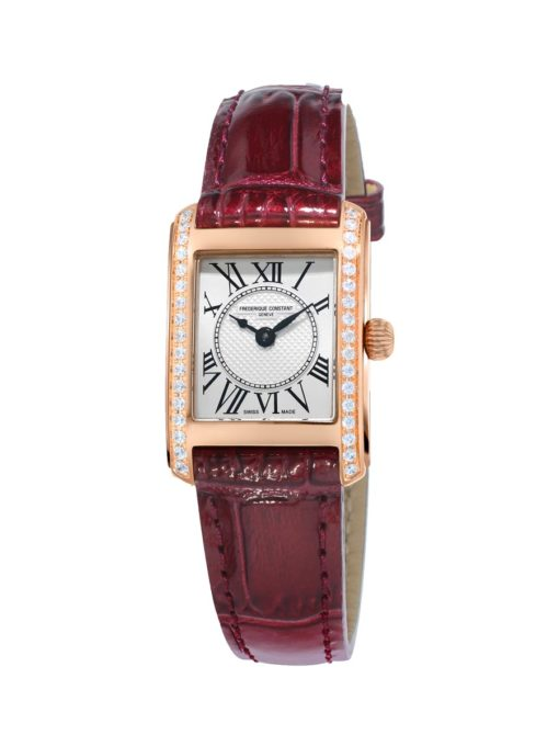 Classics Carree Silver Dial Ladies Diamond Watch - Carats Jewelry and Gifts