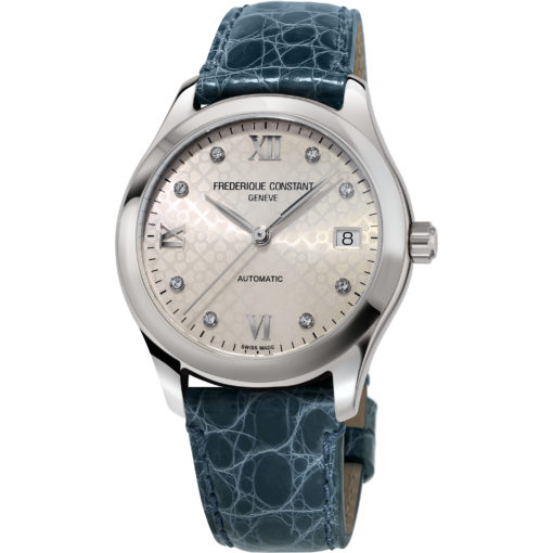 FREDERIQUE CONSTANT Automatic Light Grey Diamond Dial Ladies Watch - Carats Jewelry and Gifts