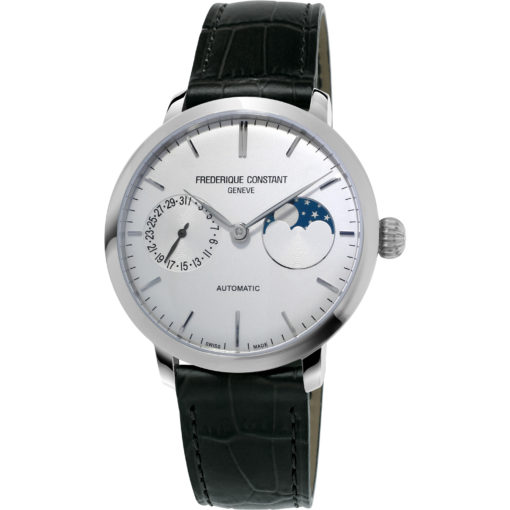 FREDERIQUE CONSTANT Slim Line Moonphase Automatic Men's Watch - Carats Jewelry and Gifts