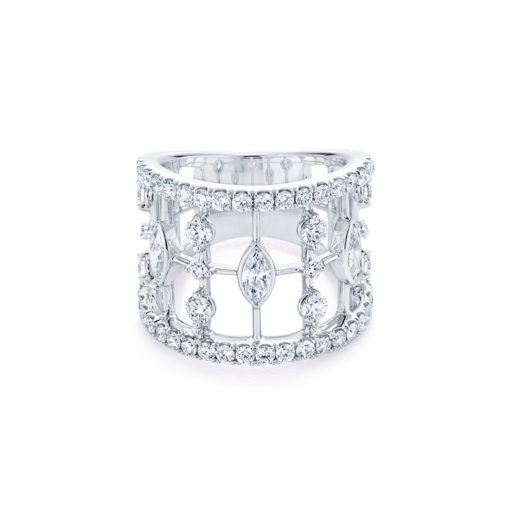 Kwiat The Starry Night Collection. Cage Round and Marquise Diamond Ring