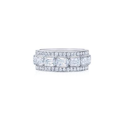 The Ashoka Collection Ashoka EastWest Partway Band Ring with Round Diamonds