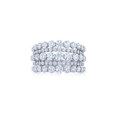 Kwiat The Eclipse Collection 5 Row Diamond Ring