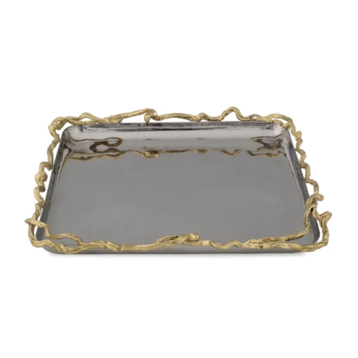 MICHAEL ARAM Wisteria Gold Matzah Plate - Carats Jewelry and Gifts