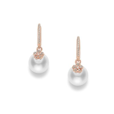 MIKIMOTO Cherry Blossom Earrings in Pink Gold