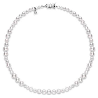 MIKIMOTO Akoya 8.5 x 4.5mm Pearls White Gold Necklace