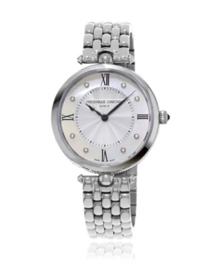 FREDERIQUE CONSTANT Art Deco Quartz Diamond Silver Dial Ladies Watch