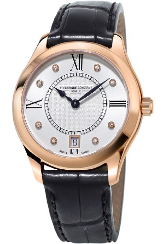 FREDERIQUE CONSTANT Classics Quartz Diamond White Dial Watch - Carats Jewelry and Gifts