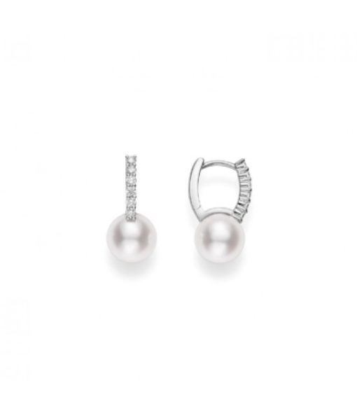 MIKIMOTO Classic Elegance Akoya Cultured Pearl Earring with Diamonds