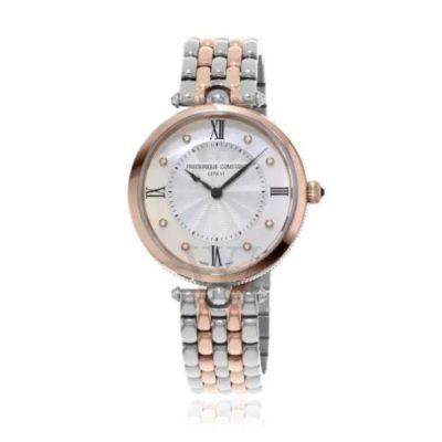 FREDERIQUE CONSTANT Art Deco Quartz Diamond Silver Dial Ladies Watch